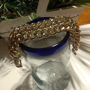 Gold chain chunky bracelet Banana Republic